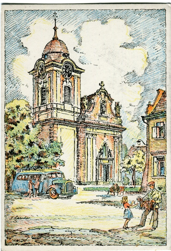 is-0083-kresba-l-landa-autobus-pred-kostelem-1140